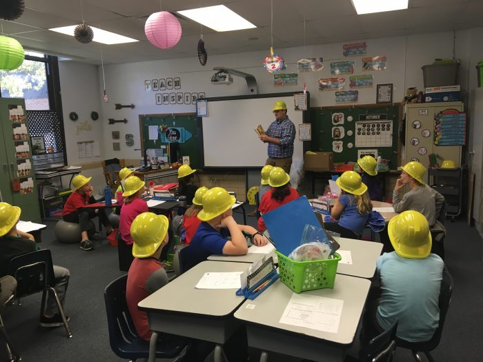Activities and Reading with Freeburg, IL 3rd Graders